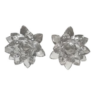 Irish Lead Crystal Candle Holders - A Pair