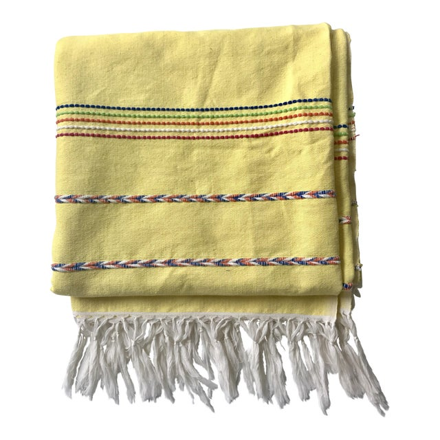 Vintage Yellow Throw Blanket Chairish