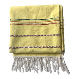 Vintage Yellow Throw Blanket