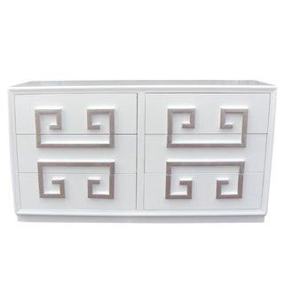A Truly Hollywood Regency Kittinger Greek Key Double Dresser