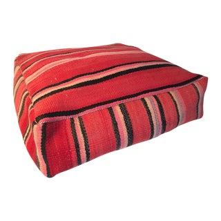 Red Moroccan Kilim Floor Pillow #2