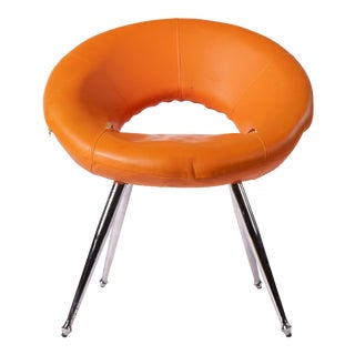 Retro 70's Orange Hoop Chair