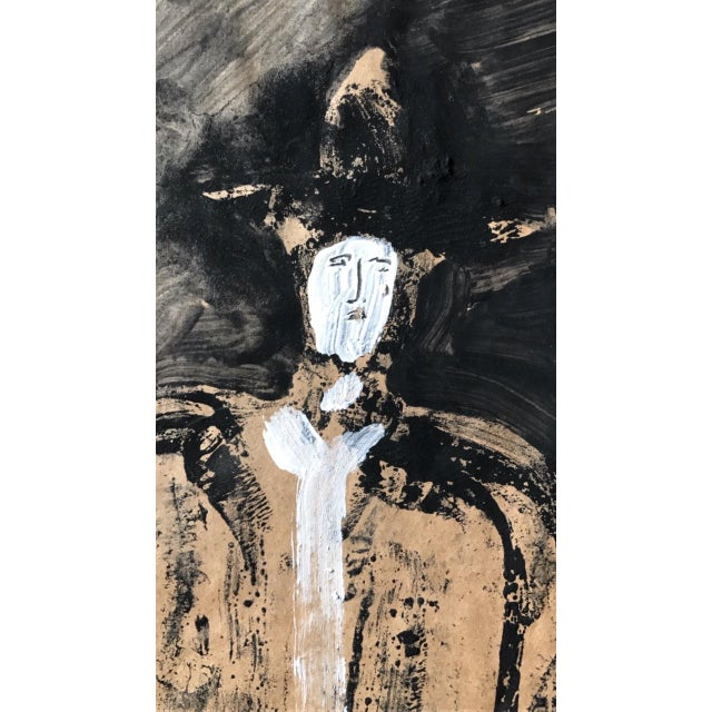 """1968 Jack Hooper """"Man With Hat"""" Painting - Image 8 of 8"""