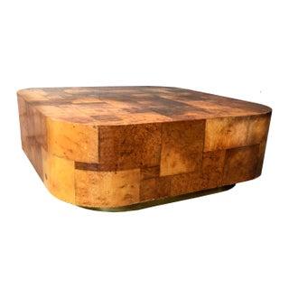 Paul Evans Style Burl Wood Coffee Table