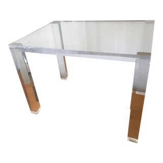 Solid Lucite Table