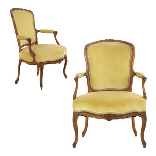 Louis XV Period Fauteuils, Late 18th Century - Pair