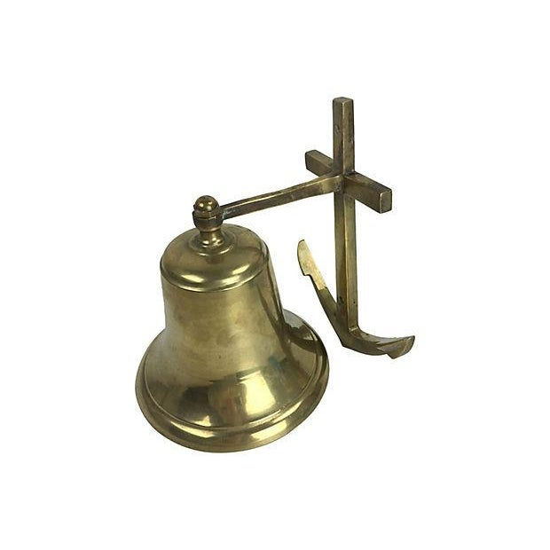 Vintage Solid Brass Wall Mounted Anchor Bell Chairish