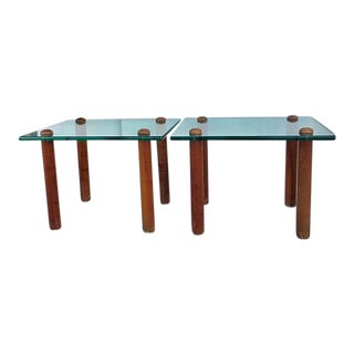 Gilbert Rohde Glass Top Side Tables- A Pair