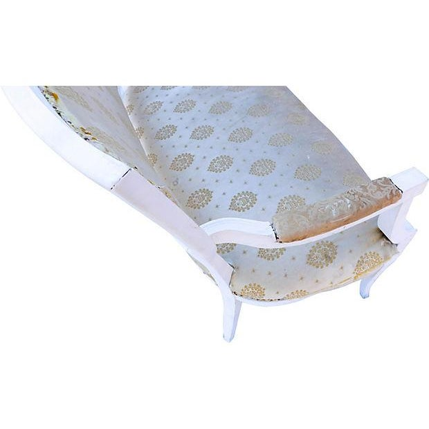 Image of Petite French-Style Love Seat Painted White