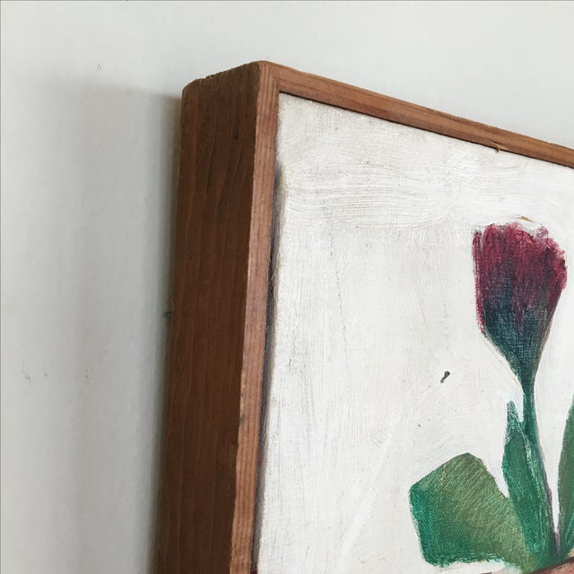 Mid-Century Flower Pot Painting - Image 6 of 10