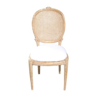 Designer Faux Bois Cane Back Chair