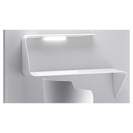 Image of MDF Italia Mamba Mounted Desk With Led Light