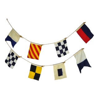 Vintage Nautical Flags - Set of 8