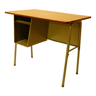 Vintage Metal School Desk