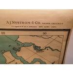 Image of Antique 1922 Linen Educational Maps & Holder - S/5