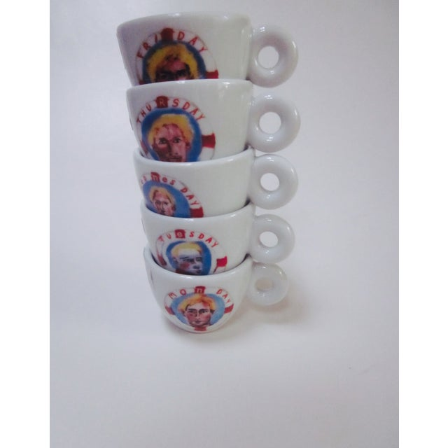 illy Espresso Cups by Julian Schnabel, 2005 - S/5 - Image 6 of 11