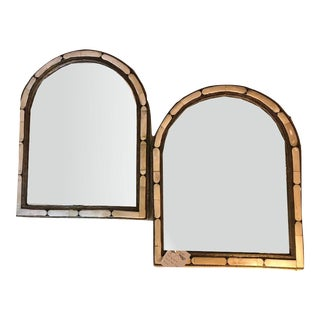 A Pair of Large Moroccan White Camel Bone Mirror