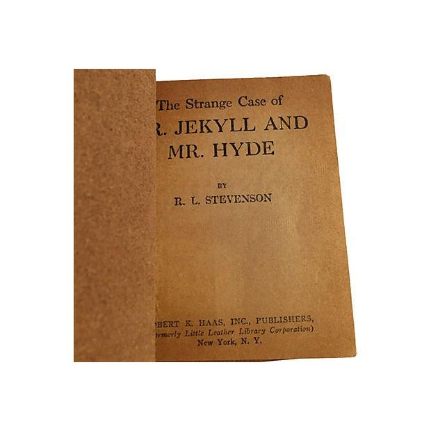 Image of Robert Stevensen Red Leather Book Collection - S/3