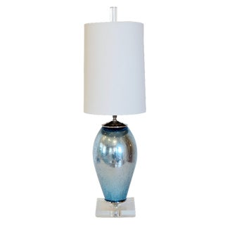 Cabo Blue Mercury Glass Lamp
