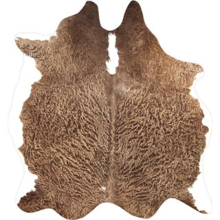 "Brown Cowhide Rug- 5' 6"" X 6'"