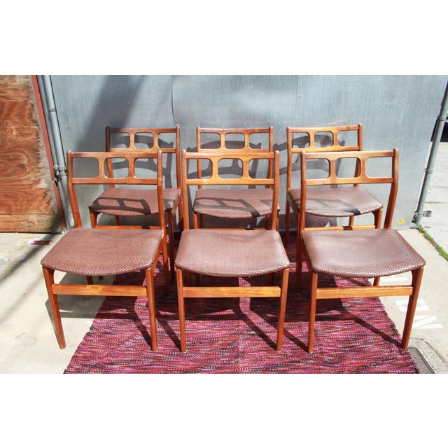 1960s D Scan Teak Dining Chairs Chairish
