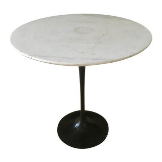Vintage Knoll Saarinen Marble Side Table