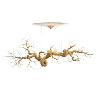 Twisted Brass Wire Chandelier