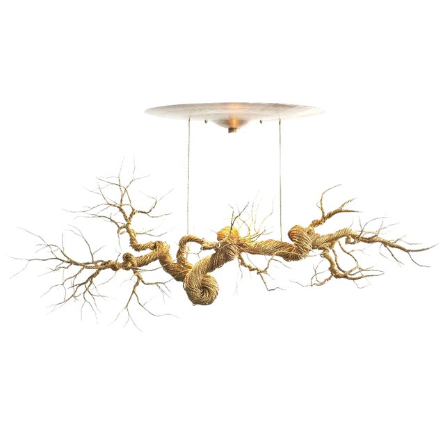 Image of Twisted Brass Wire Chandelier