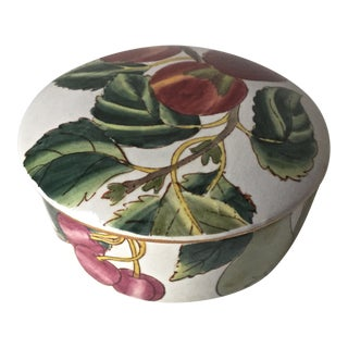 Vintage Ceramic Chinese Trinket Box