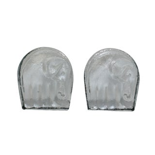 Vintage Elephant Bookends - A Pair