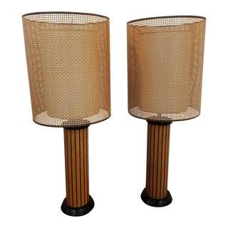 Hans Wegner Wood Strip Lamps - A Pair
