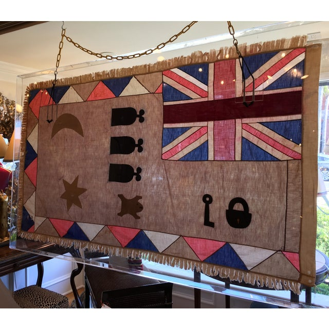 Antique British Colony Flag in Lucite Frame - Image 7 of 7