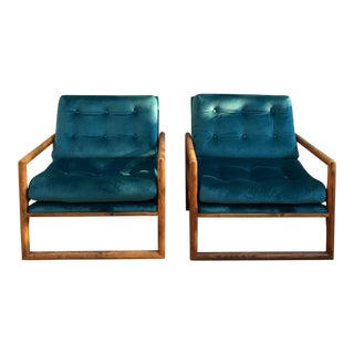 "Milo Baughman ""Cube"" Lounge Chairs - A Pair"
