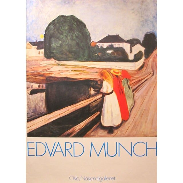 Image of Edvard Munch Exhibition Poster in Oslo