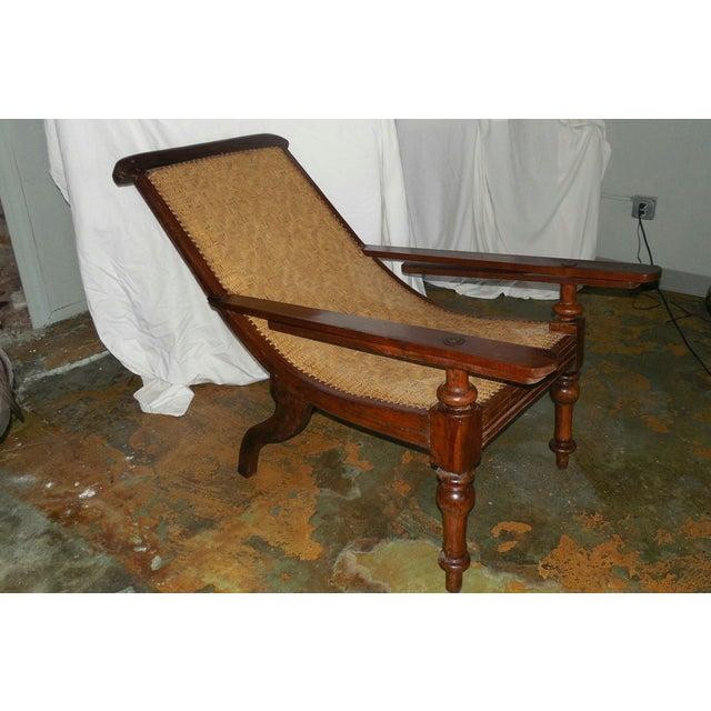 Antique Anglo-Indian Plantation Chair - Image 3 of 11 - Antique Anglo-Indian Plantation Chair Chairish