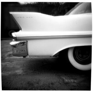 "Vintage ""Caddy"" Black & White Photograph"