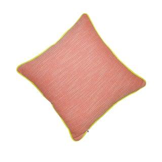 Pink and Orange Tweed Pillow