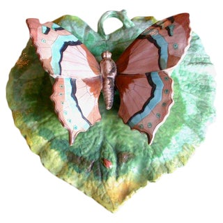 Butterfly Porcelain Wall Pocket