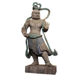 Vajra Carved Wood Statue