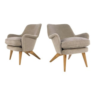 Vintage Pedro Armchairs by Carl-Gustav Hiort af Ornas Restored in Loro Piana Alpaca Wool - Pair