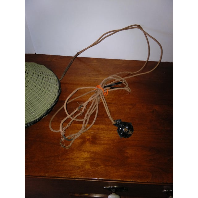 Image of Antique Haywood Wakefield Era Wicker Table Lamp
