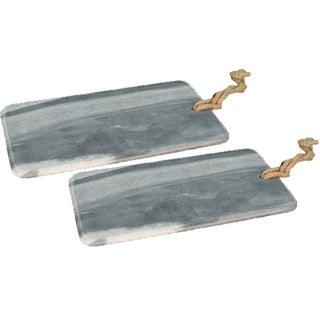 Sarreid Ltd. Marly Rectangular Marble Plates - A Pair