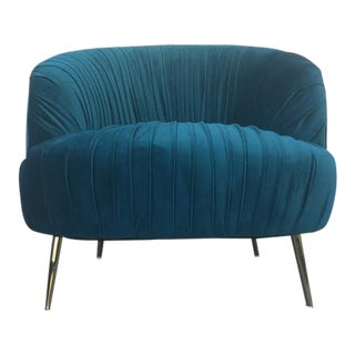 Teal Mid-Century Style Club Chair
