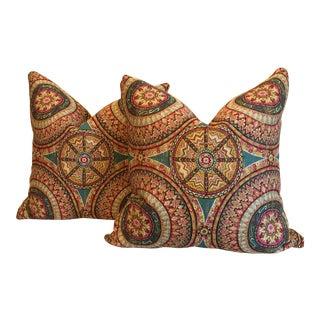 "22"" Persian Print Pillows - A Pair"