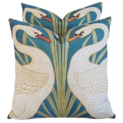 Swans Linen & Down/Feather Pillows - Pair - Image 2 of 8