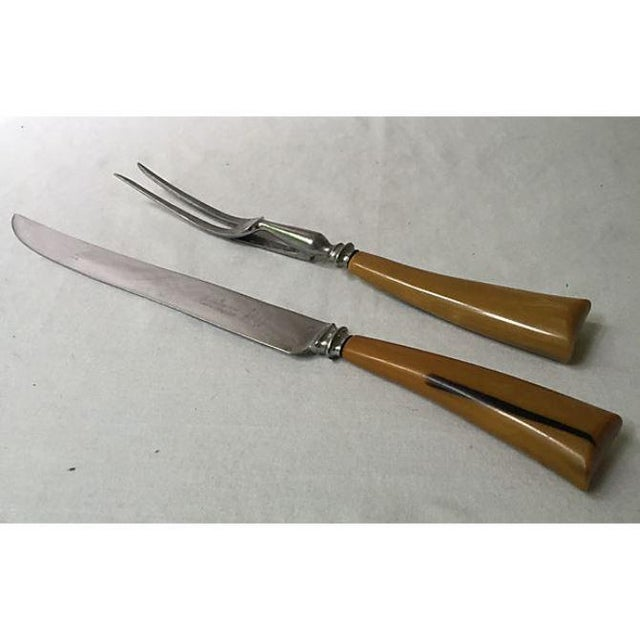 Image of Sheffield Bakelite Carving Set