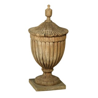 Antique Wood Architectural Urn
