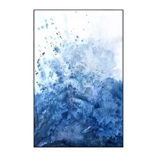 Blue Salt Watercolor Framed Giclée Print
