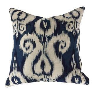 Blue & White Ikat Pillow