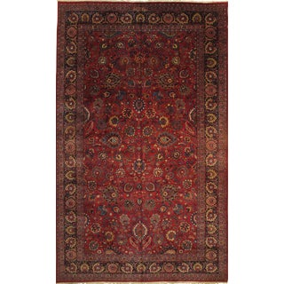 "Persian Mashad Hand Knotted Rug - 10'2"" X 16 8"""